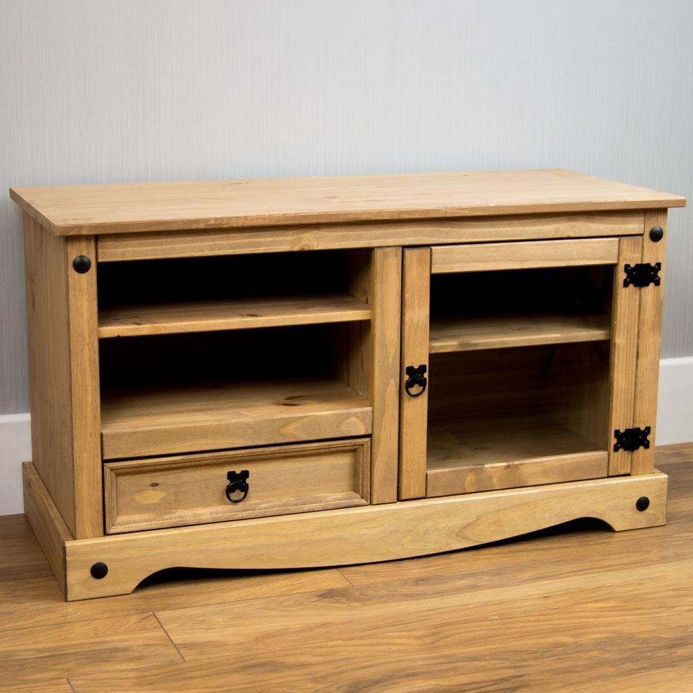 Corona Panama Tv Cabinet Media Dvd Unit Solid Pine Wood Mexican  # Wooden Art Meuble Tv