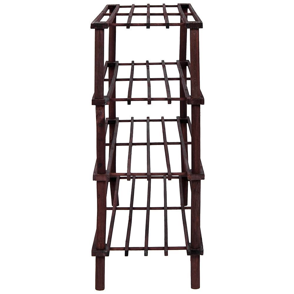 2-3-4-Tier-Shoe-Rack-Slated-Dark-Oak-Natural-Walnut-Wood-Footwear-Storage-Unit thumbnail 43