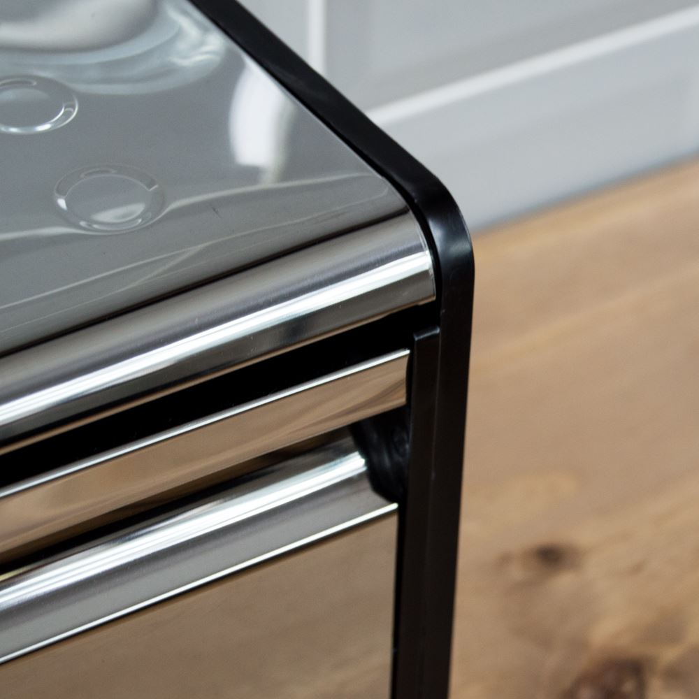 Bread-Bin-Retro-Curved-Mirrored-Steel-Kitchen-Loaf-Food-Storage-Container thumbnail 22