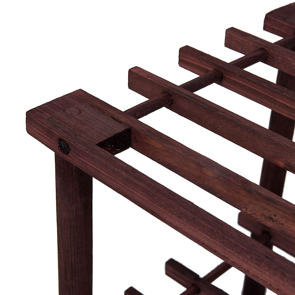 2-3-4-Tier-Shoe-Rack-Slated-Dark-Oak-Natural-Walnut-Wood-Footwear-Storage-Unit thumbnail 34