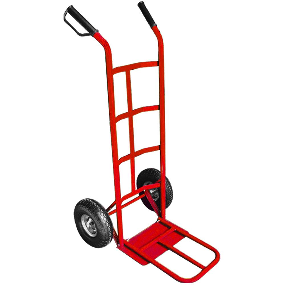 Hand Trolley Truck Blue Red Steel Frame Heavy Duty
