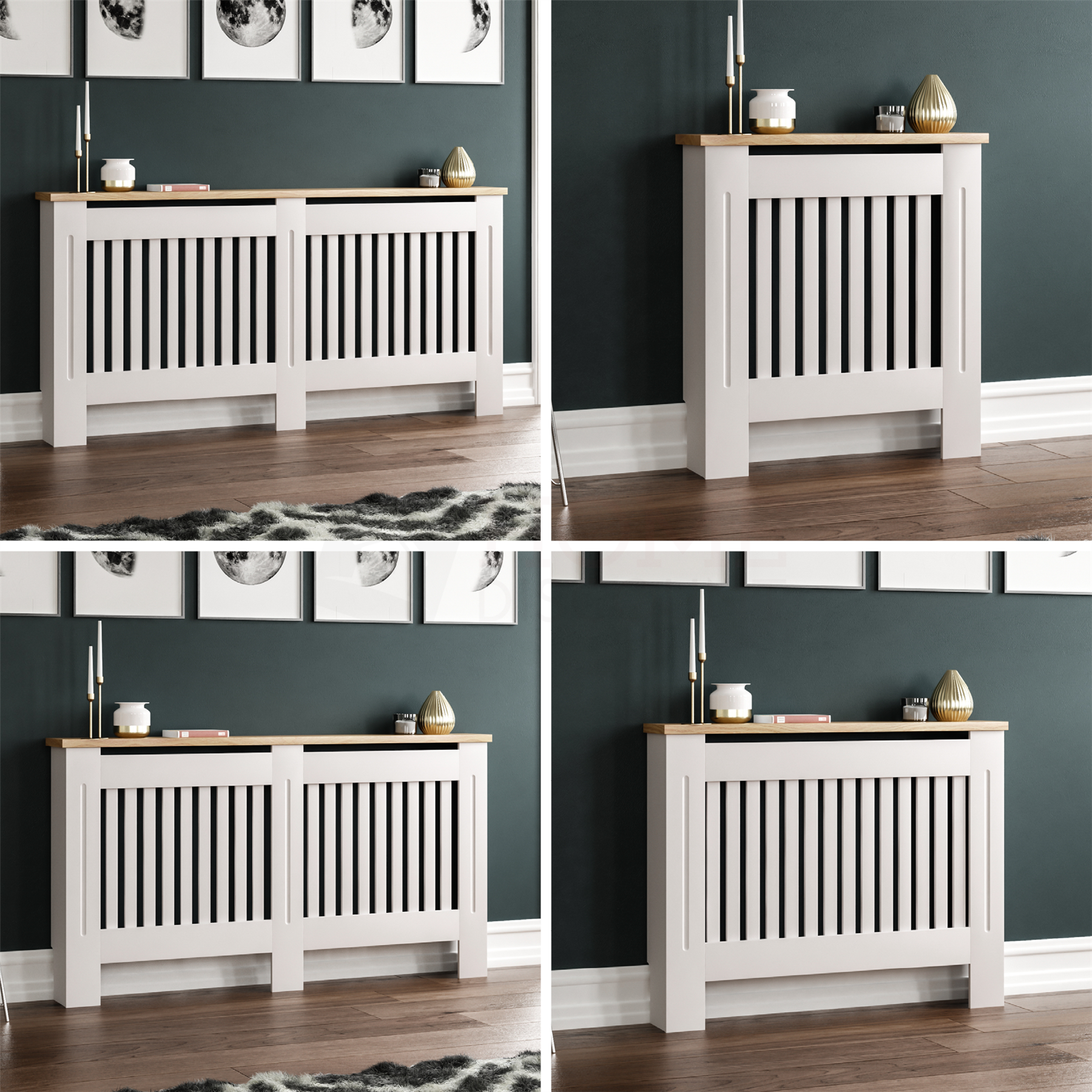 Arlington Radiator Cover White Modern Traditional Grill Cabinet Wood Furniture Ebay