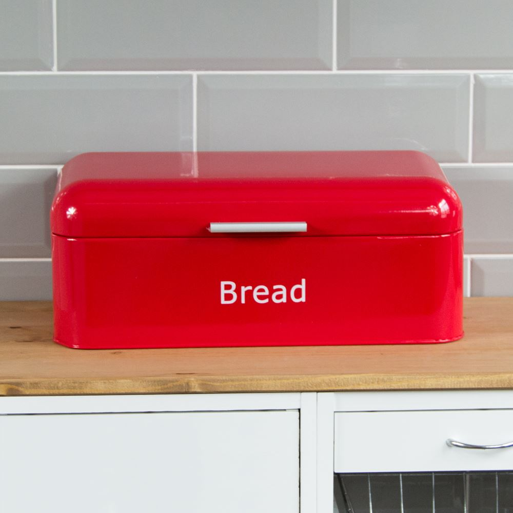 Curved-Bread-Bin-Steel-Kitchen-Top-Storage-Roll-Loaf-Box-New-By-Home-Discount thumbnail 18