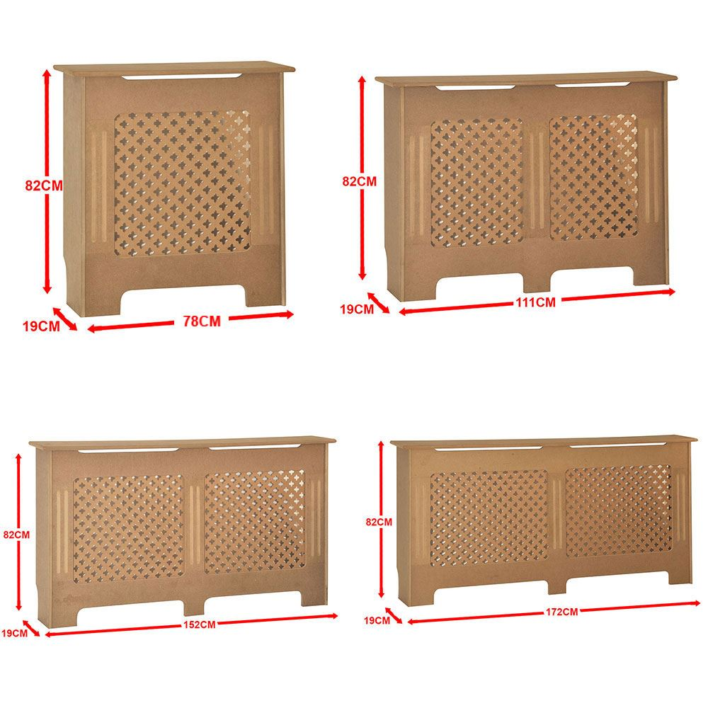 Details about oxford radiator cover unfinished traditional mdf cabinet unpainted furniture