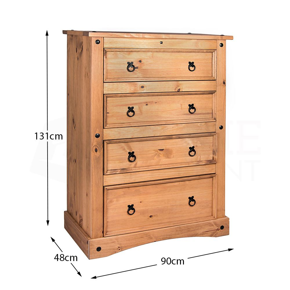 Corona-Panama-Chest-Of-Drawers-Bedside-Bedroom-Mexican-Solid-Pine-Furniture thumbnail 76