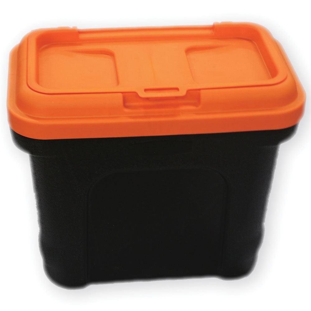 Pet Food Container With Scoop Black Amp Orange