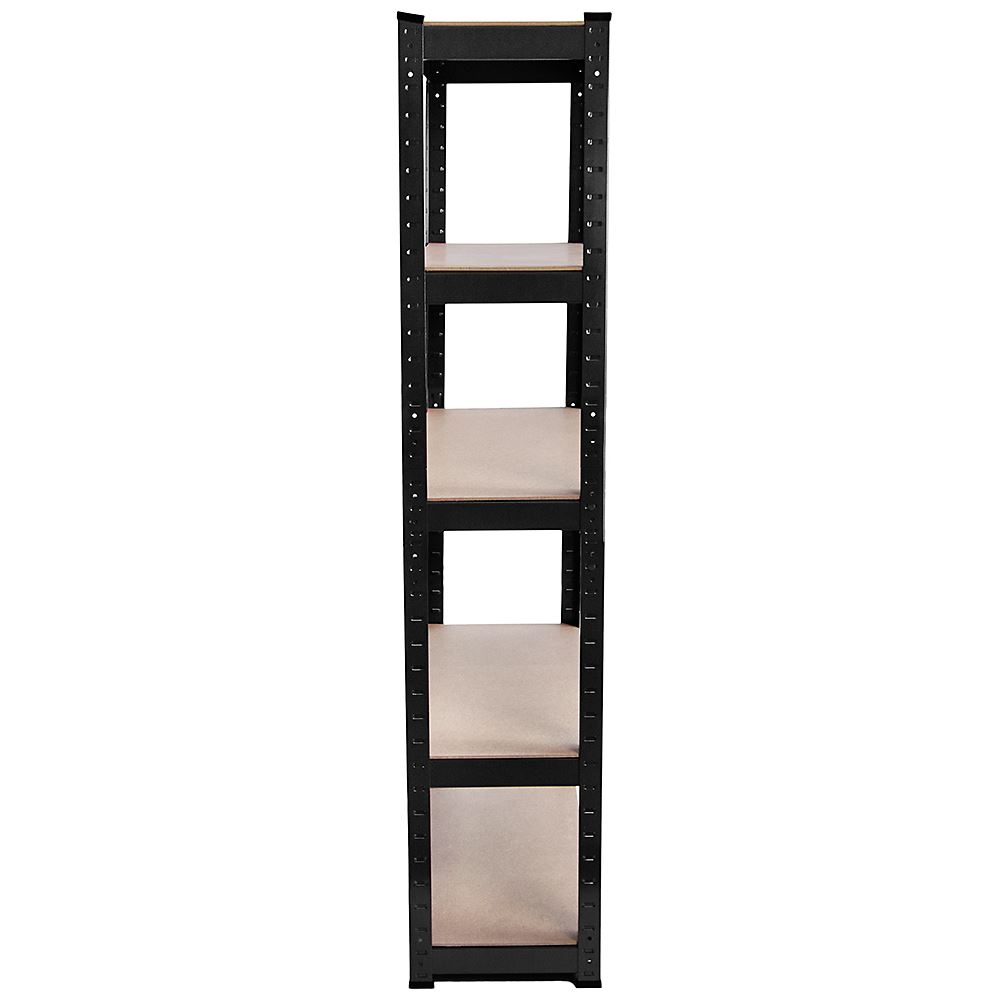 5-Tier-Shelf-Black-Heavy-Duty-Warehouse-DIY-Garage-Storage-Rack-Shelving-Unit thumbnail 4