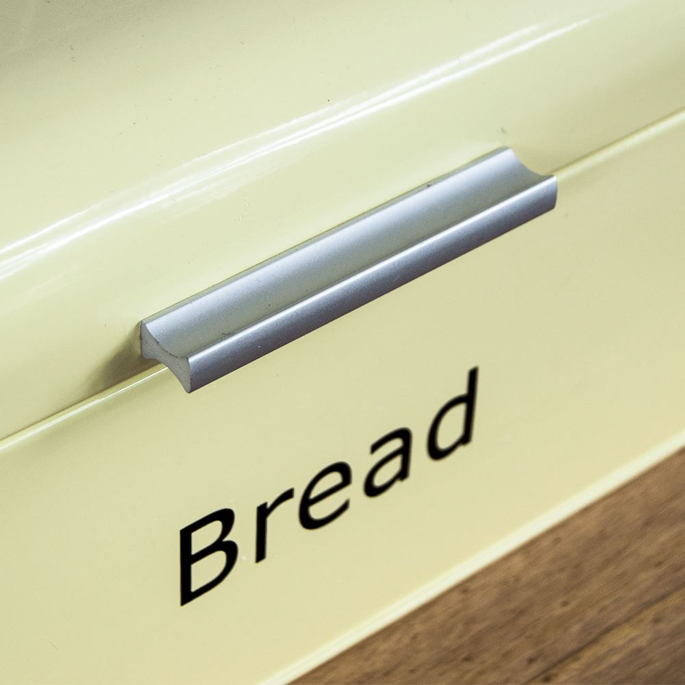Bread-Bin-Retro-Curved-Mirrored-Steel-Kitchen-Loaf-Food-Storage-Container thumbnail 9