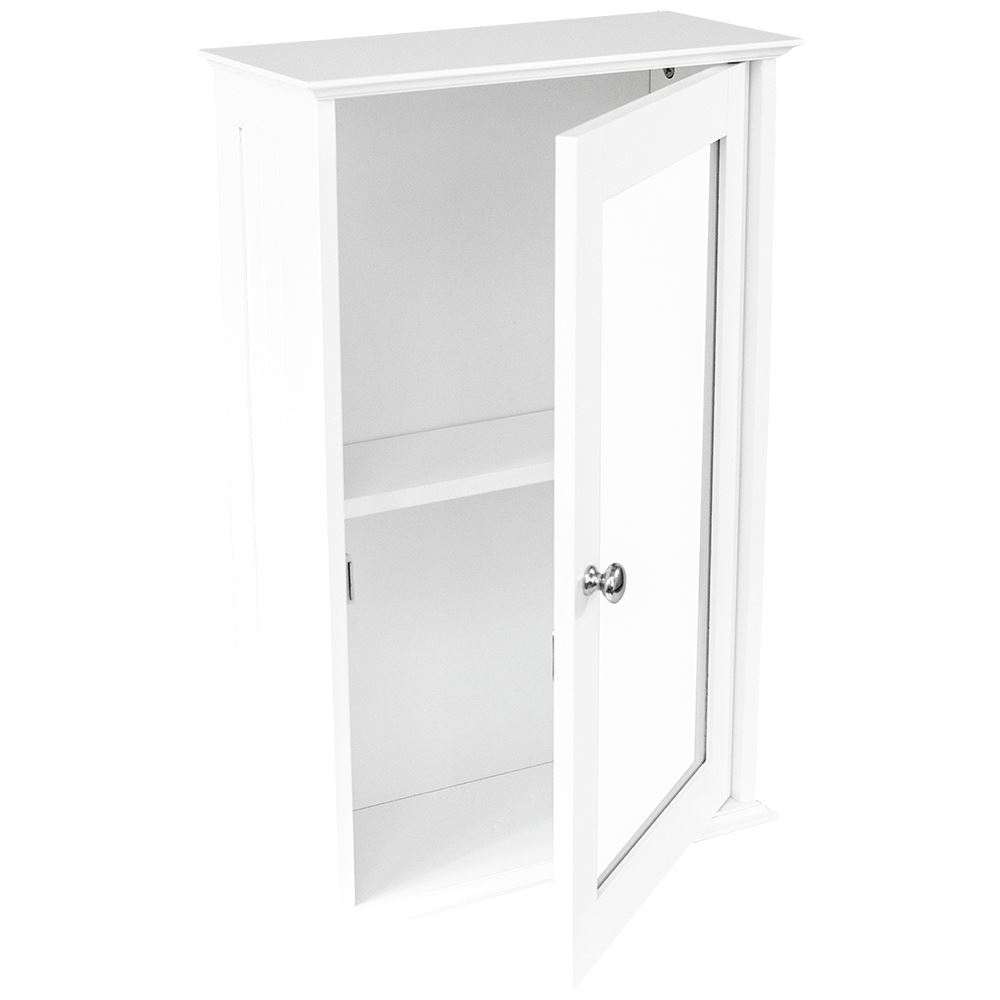 Single Door Bathroom Wall Cabinets White Mounted Cupboard MDF ...