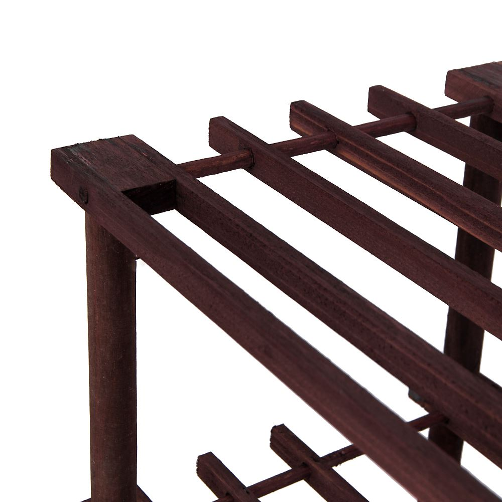2-3-4-Tier-Shoe-Rack-Slated-Dark-Oak-Natural-Walnut-Wood-Footwear-Storage-Unit thumbnail 39