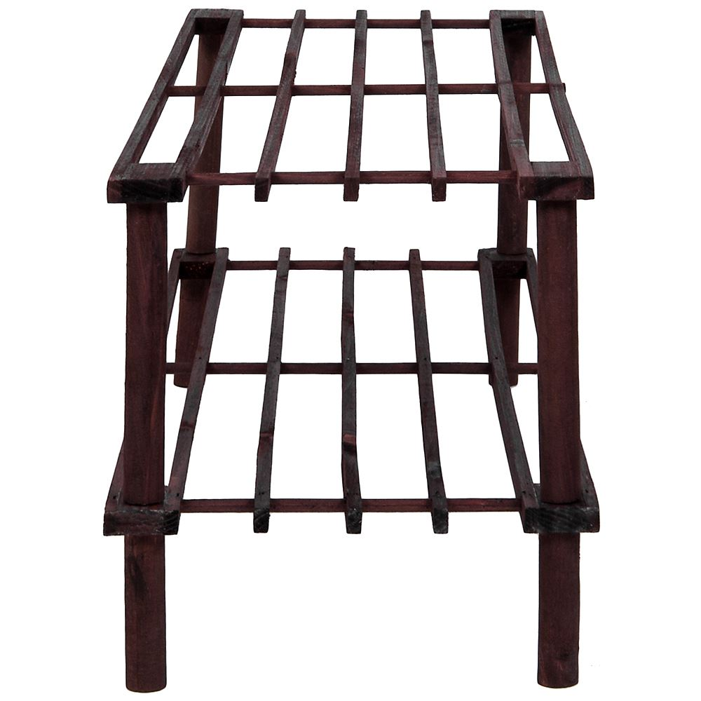 2-3-4-Tier-Shoe-Rack-Slated-Dark-Oak-Natural-Walnut-Wood-Footwear-Storage-Unit thumbnail 33