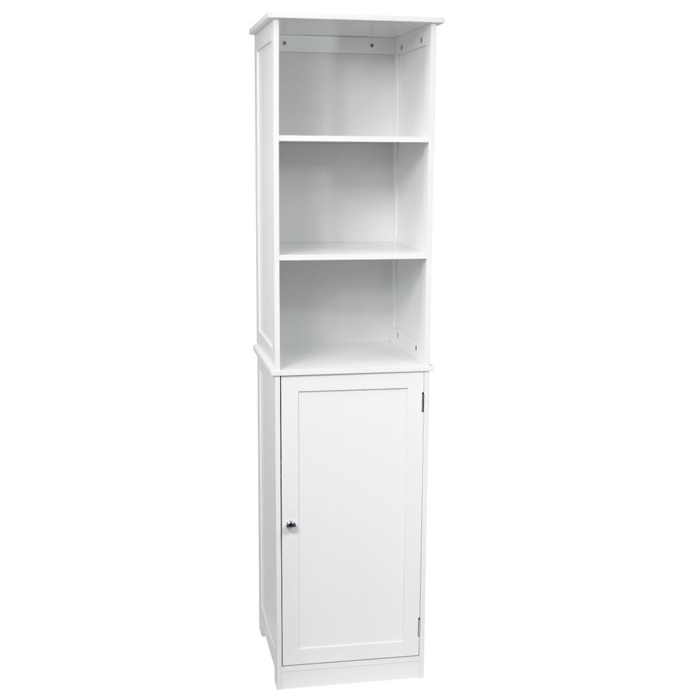 Priano Bathroom Tall Cabinet Shelving Cupboard Storage Unit Furniture White Ebay