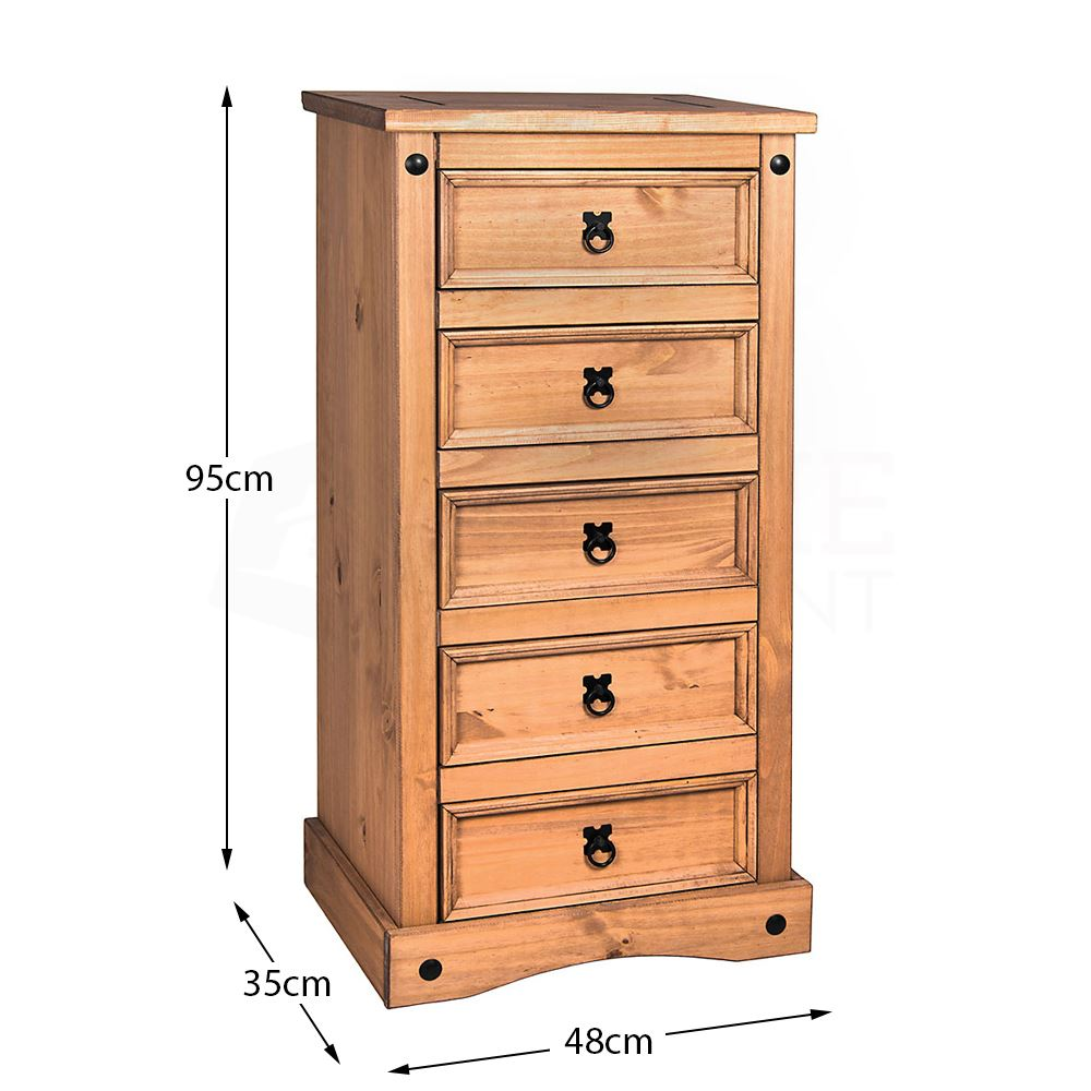 Corona-Panama-Chest-Of-Drawers-Bedside-Bedroom-Mexican-Solid-Pine-Furniture thumbnail 97