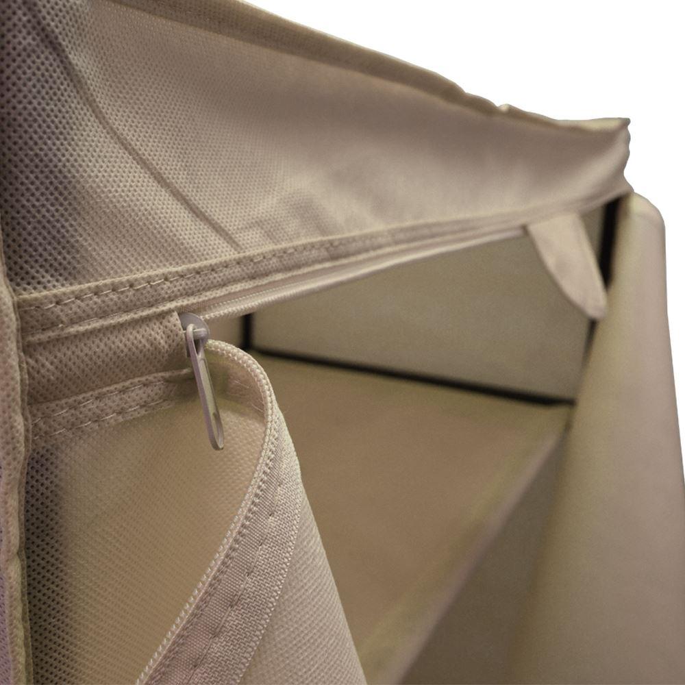Canvas Storage Boxes For Wardrobes: Storage Large Wardrobe Cream Fabric Canvas Hanging Rail