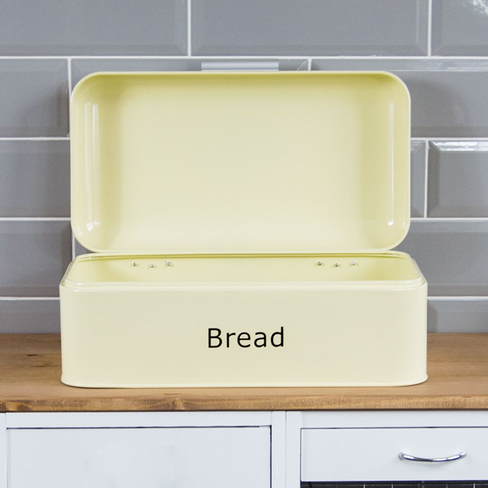 Curved-Bread-Bin-Steel-Kitchen-Top-Storage-Roll-Loaf-Box-New-By-Home-Discount thumbnail 12