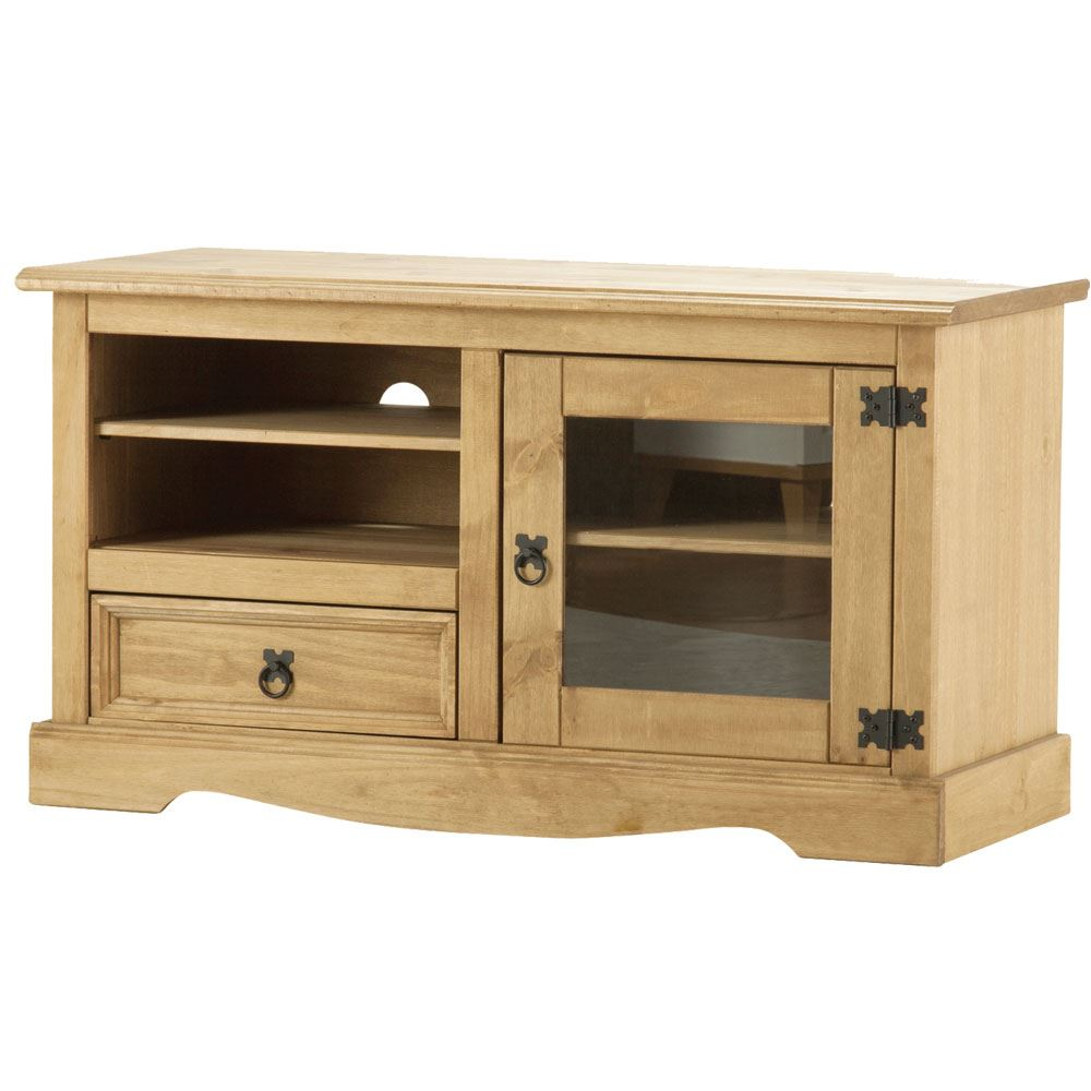 Corona Panama TV Cabinet Media DVD Units Wood Solid Pine