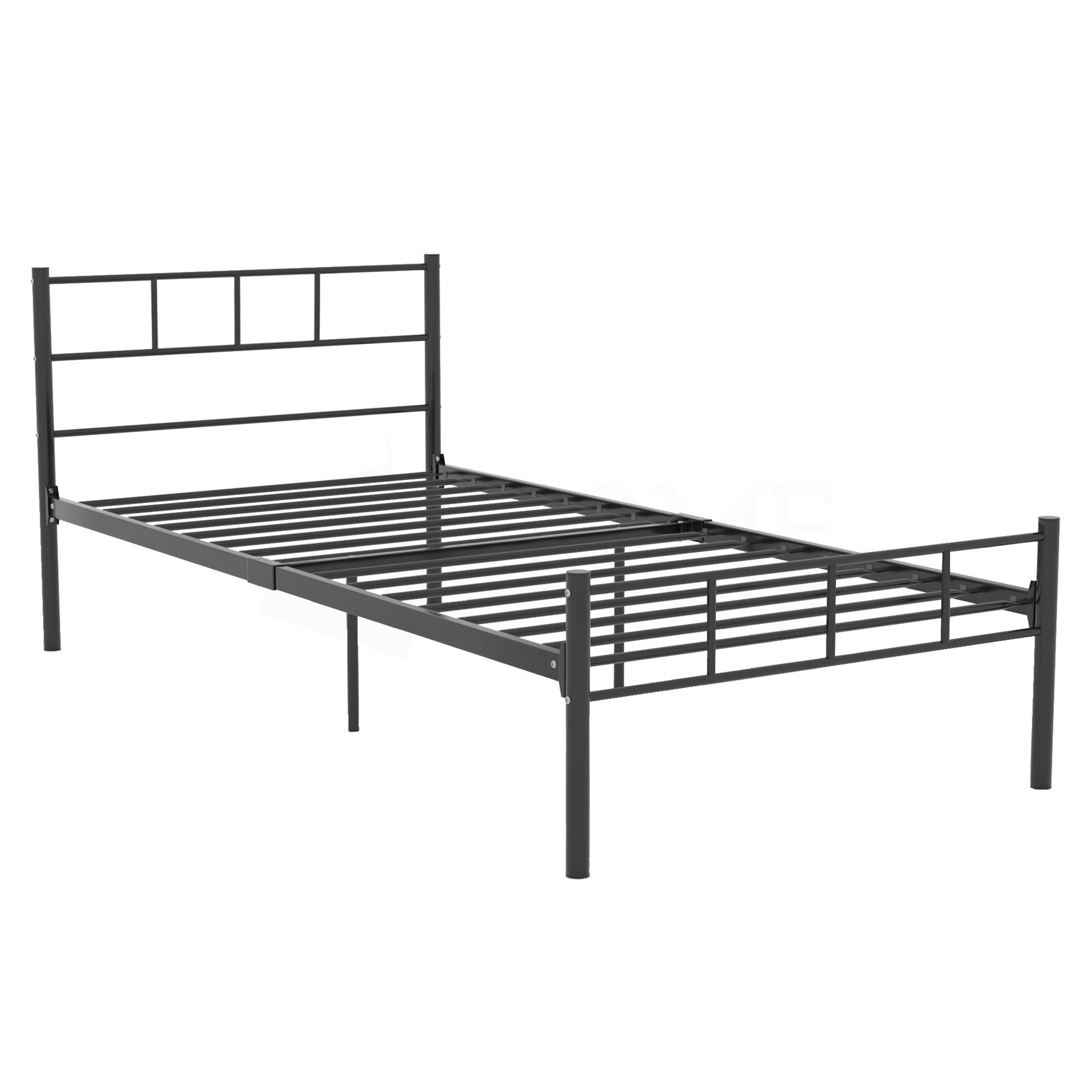 Dorset Single Double King Size Bed Metal Steel Frame 4ft6 5ft Modern Bedroom