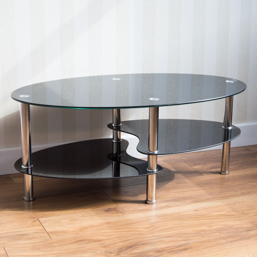 Black Coffee Table Nest: Cara Furniture Range Coffee Table Nest Of 3 Tables Glass