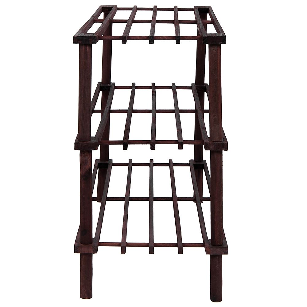 2-3-4-Tier-Shoe-Rack-Slated-Dark-Oak-Natural-Walnut-Wood-Footwear-Storage-Unit thumbnail 38