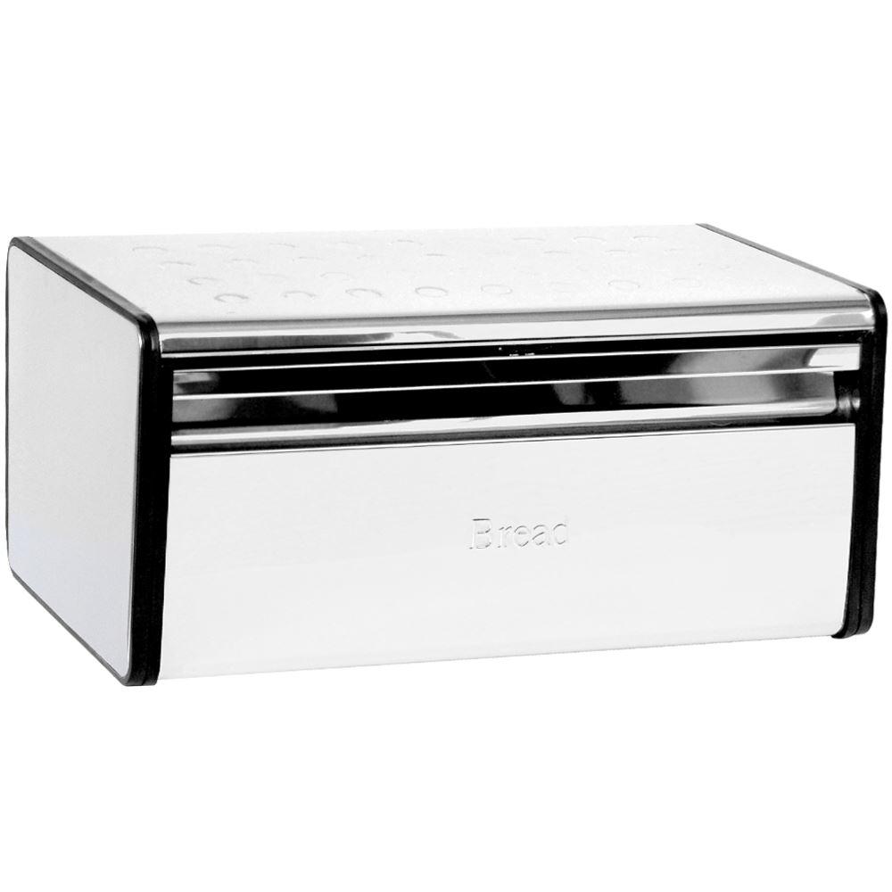 Silver-Bread-Bin-Steel-Kitchen-Food-Storage-Box-Loaf-Roll-Bins-By-Home-Discount