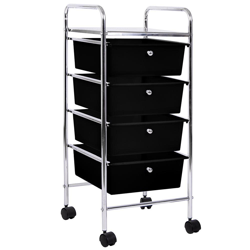 rack storage cart with locking caster drawers towel pin wood drawer utility wheels kitchen red