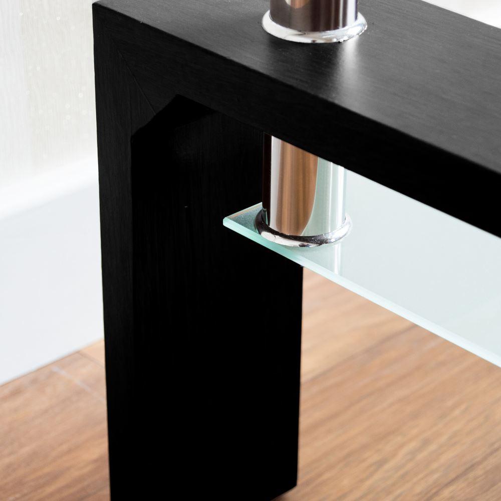 Elise Coffee Tables Rectangular Top White Walnut Black