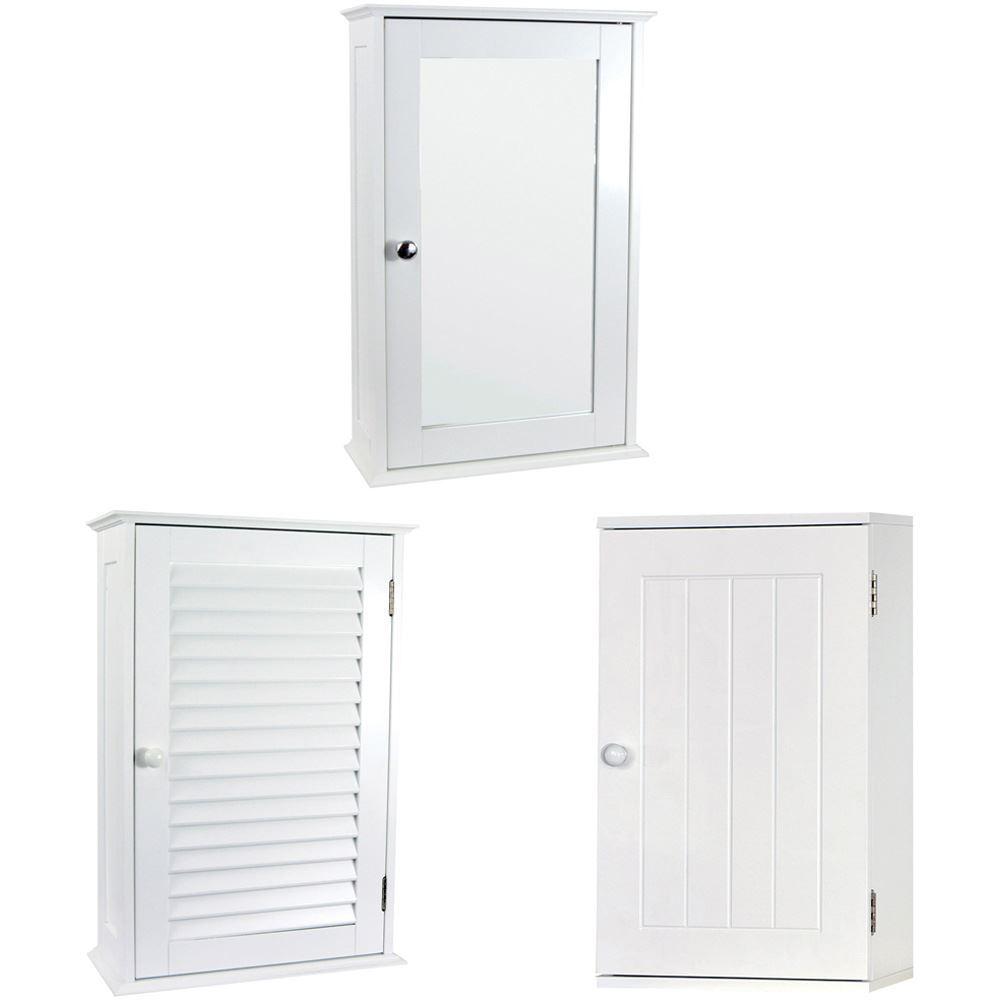 Single Door Bathroom Wall Cabinets White Mounted Cupboard