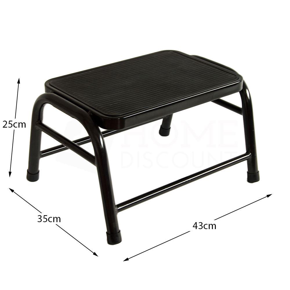 One Step Stool Ladder Anti Slip Rubber Mat Multi Purpose