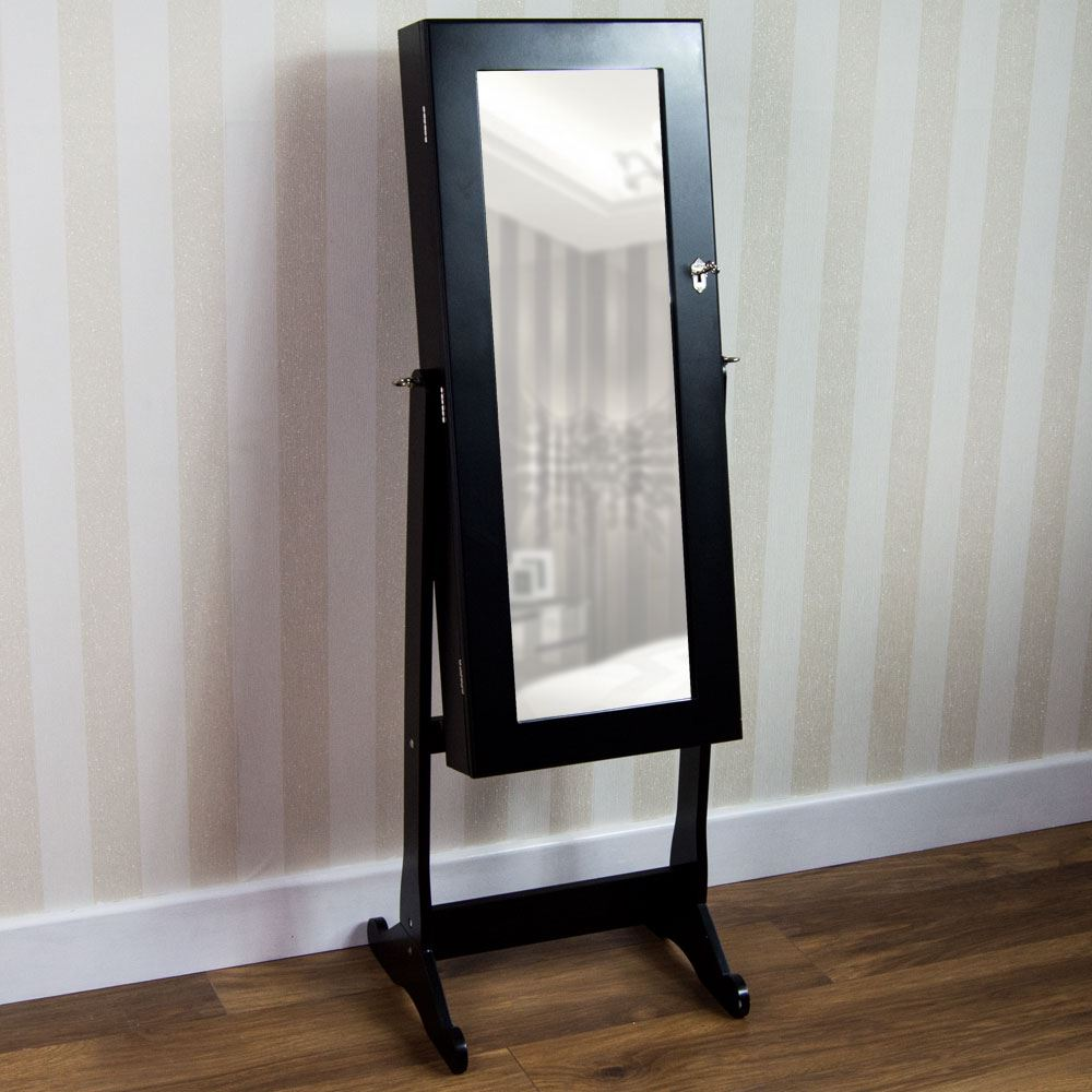 Nishano Jewellery Cabinet Mirror Floor Free Standing Bedroom