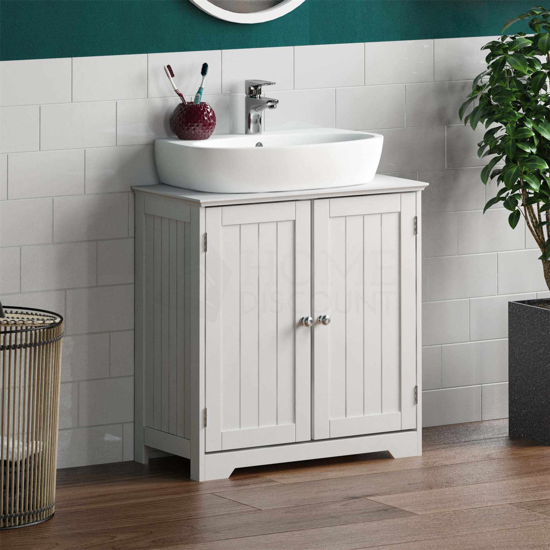 Priano Bathroom Sink Cabinet Under Basin Vanity Storage Cupboard Unit White 5055998405141 Ebay