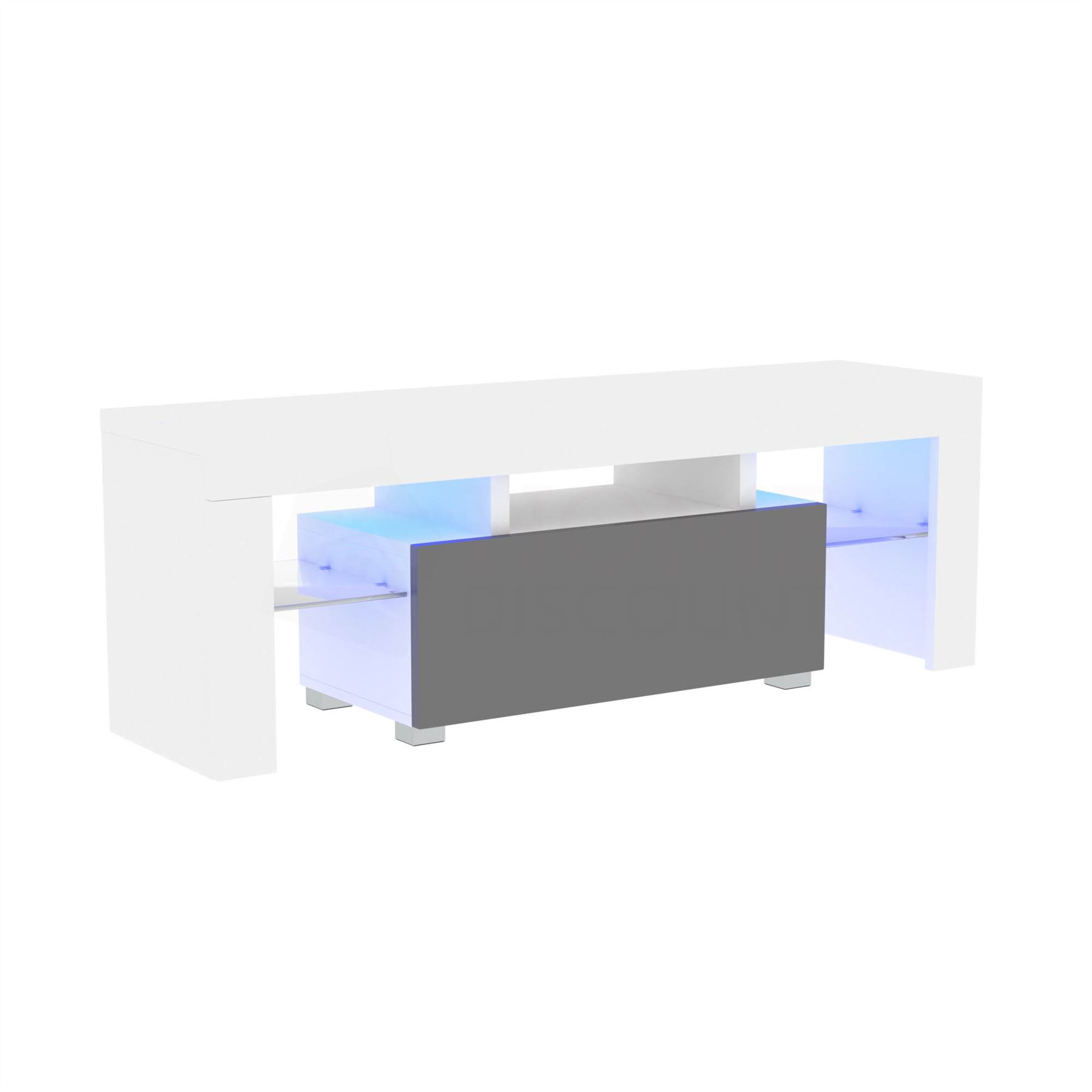 thumbnail 65 - Modern White TV Unit Cabinet Stand Matt body and High Gloss Doors LED Lights