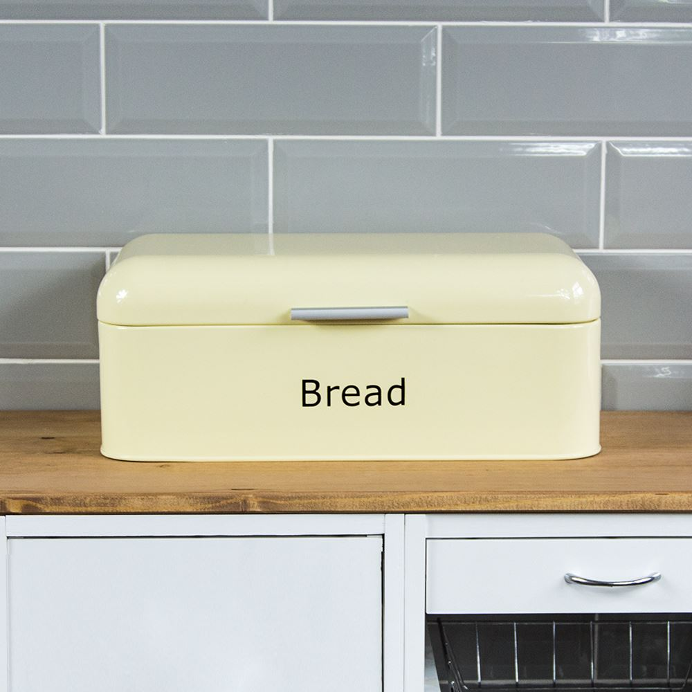 Curved-Bread-Bin-Steel-Kitchen-Top-Storage-Roll-Loaf-Box-New-By-Home-Discount thumbnail 10