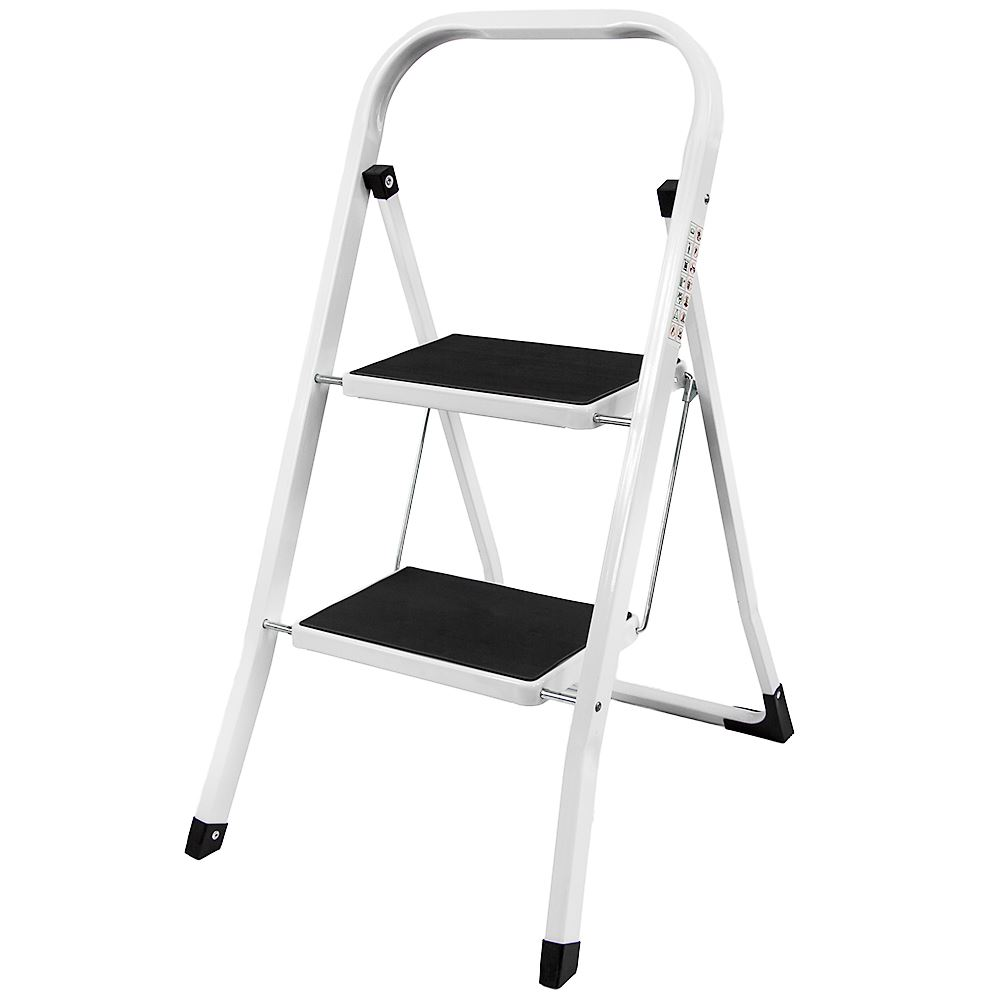 2 Step Ladder Safety Non Slip Mat Tread Foldable Kitchen
