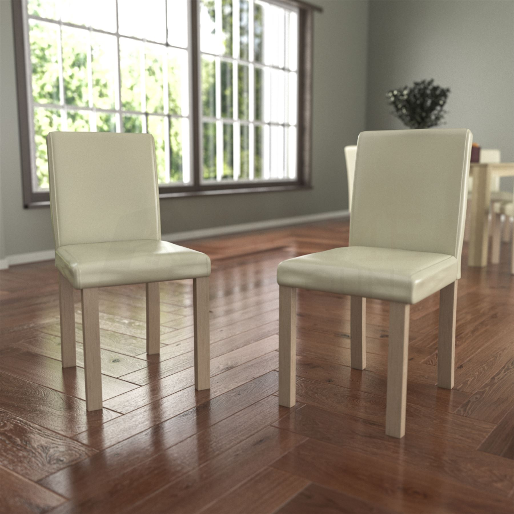 dining table and chairs 6 seat set pu faux leather dining