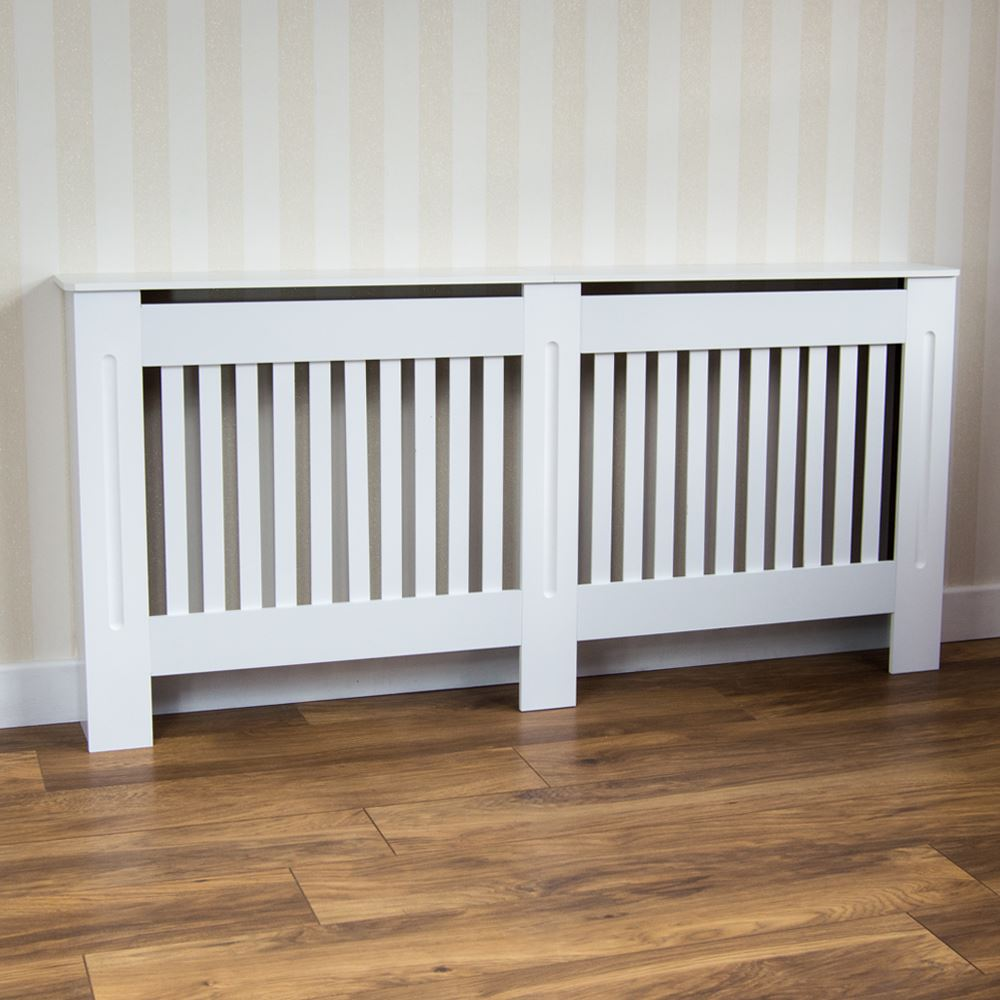 Chelsea Radiator Covers Modern White Cabinet Slatted Grill Wood  # Muebles De Tualet