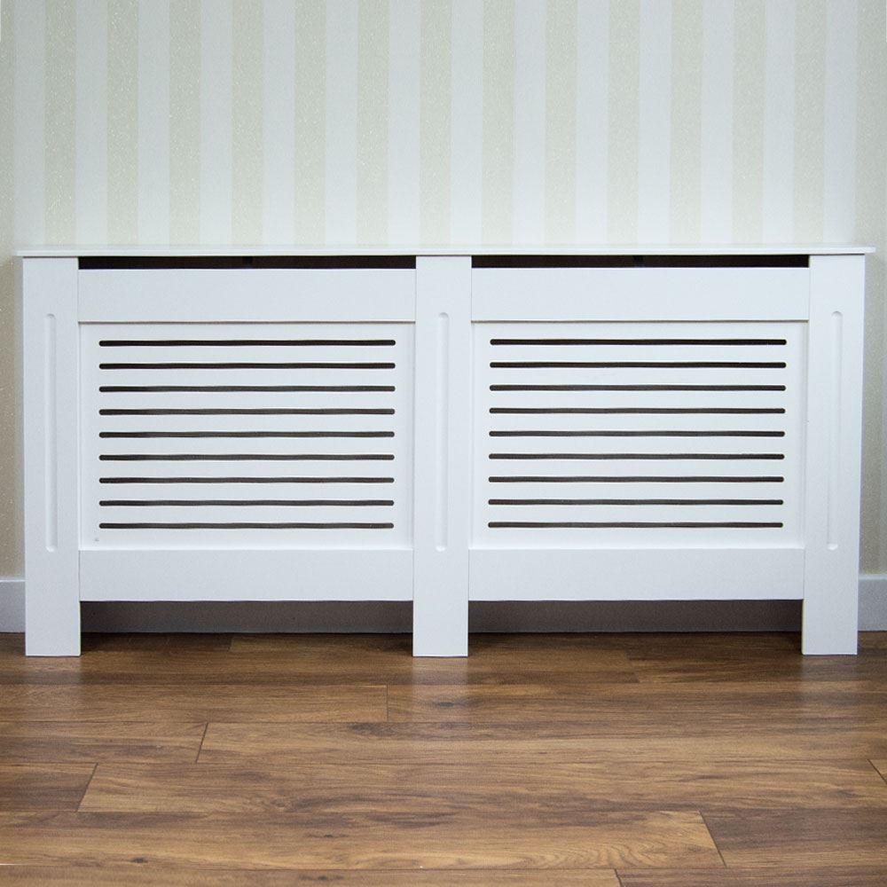 Radiator Cover Modern White Medium Cabinet MDF Painted