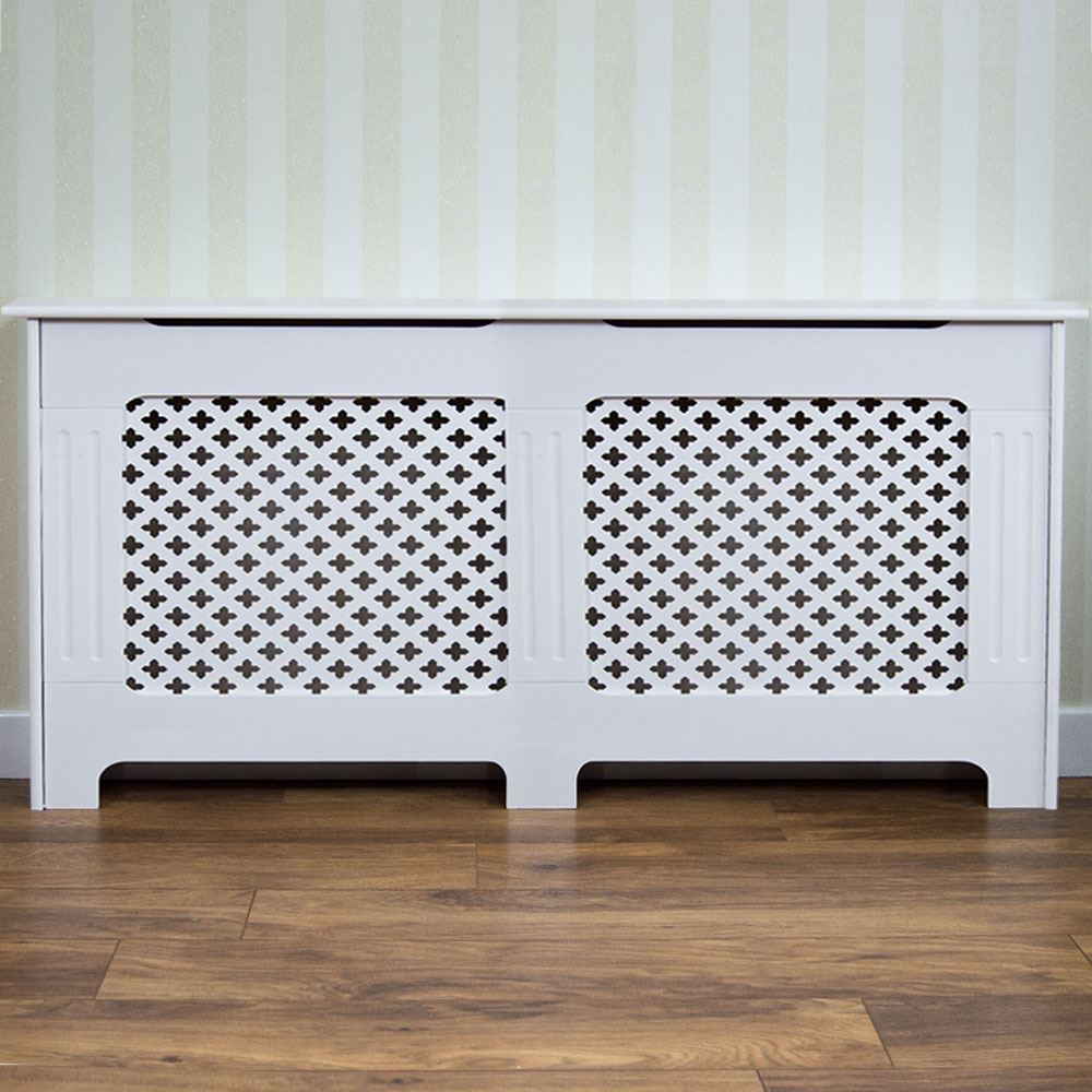 Radiator Cover Traditional White Extra Large Mdf Classic