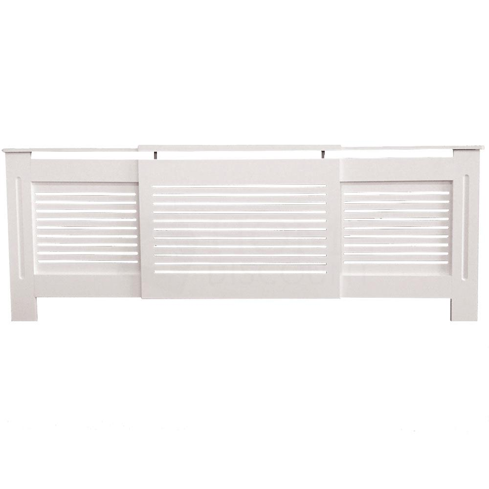 thumbnail 201 - Radiator Cover White Unfinished Modern Traditional Wood Grill Cabinet Furniture