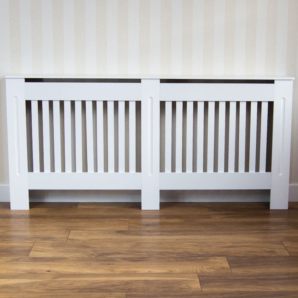 Chelsea Radiator Covers Modern White Cabinet Slatted Grill Wood