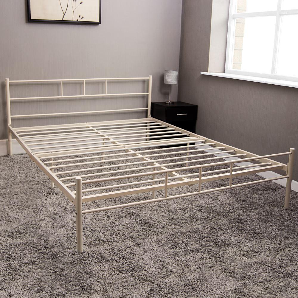 Dorset Single Double King Bed Metal Steel Frame Modern Bedroom Frame