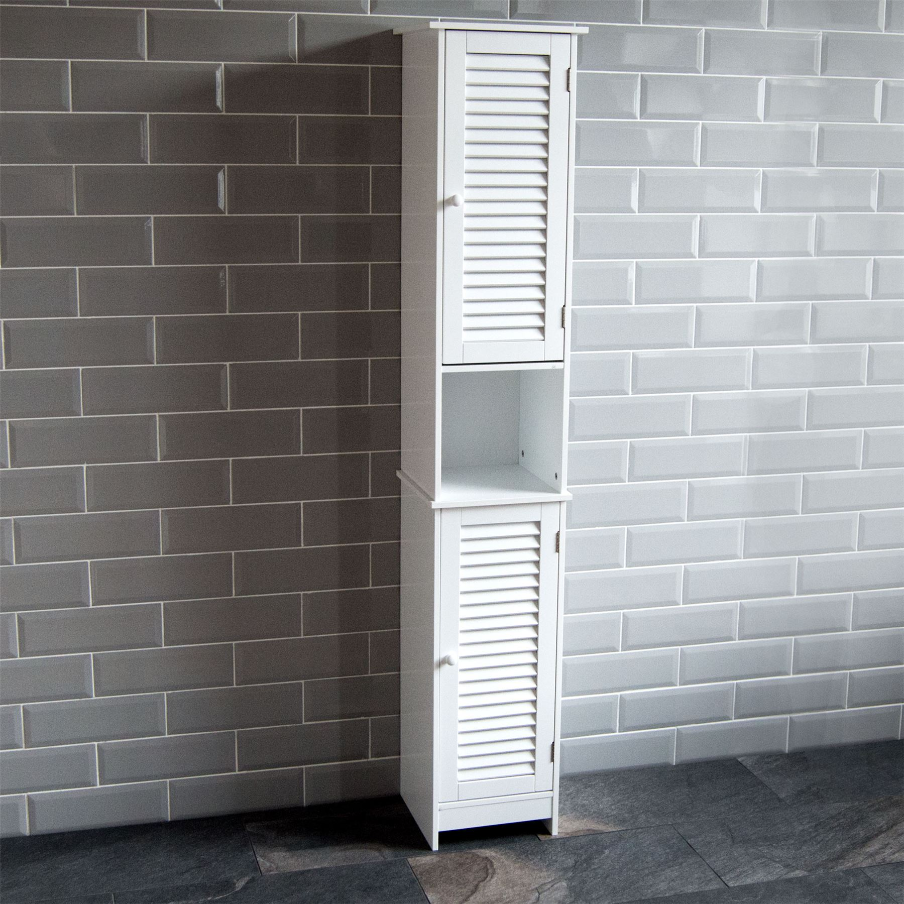 Liano Bathroom Cabinet Single Double Shutter Door Wall