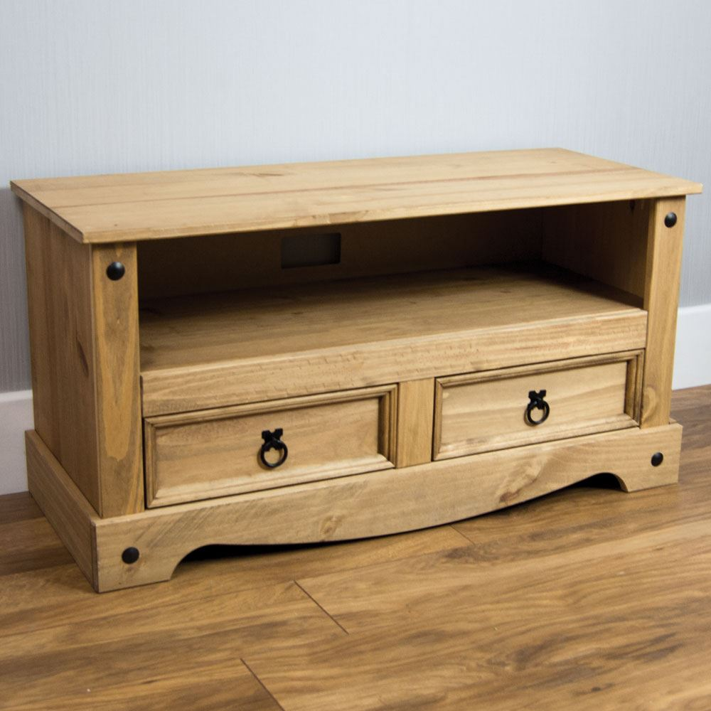 Corona panama tv cabinet media dvd units wood solid pine for Pine furniture