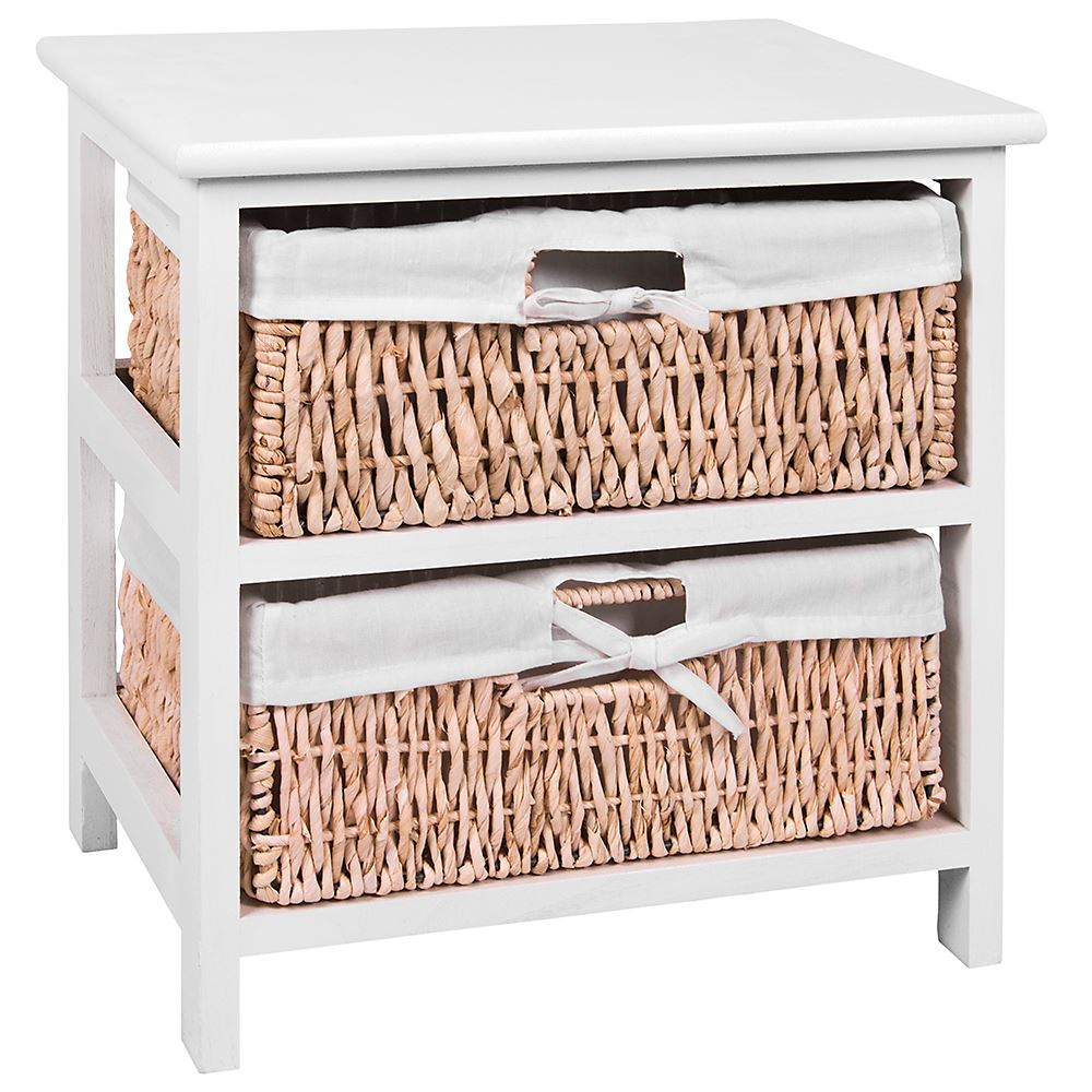 Unit-2-3-Or-4-Maize-Drawers-Basket-White-Wood-Storage-Container-Bathroom-Bedroom thumbnail 4