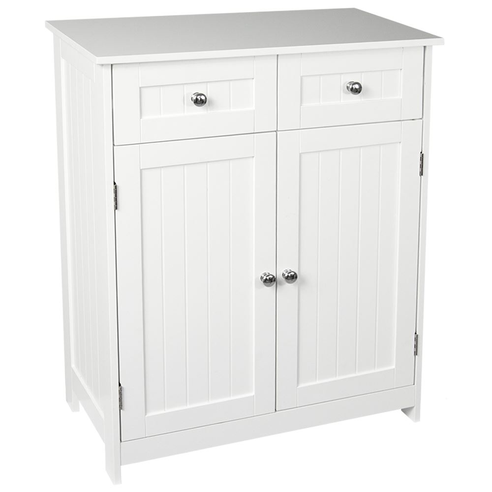 Priano Bathroom Cabinet 2 Drawer 2 Door Storage Cupboard Unit ...