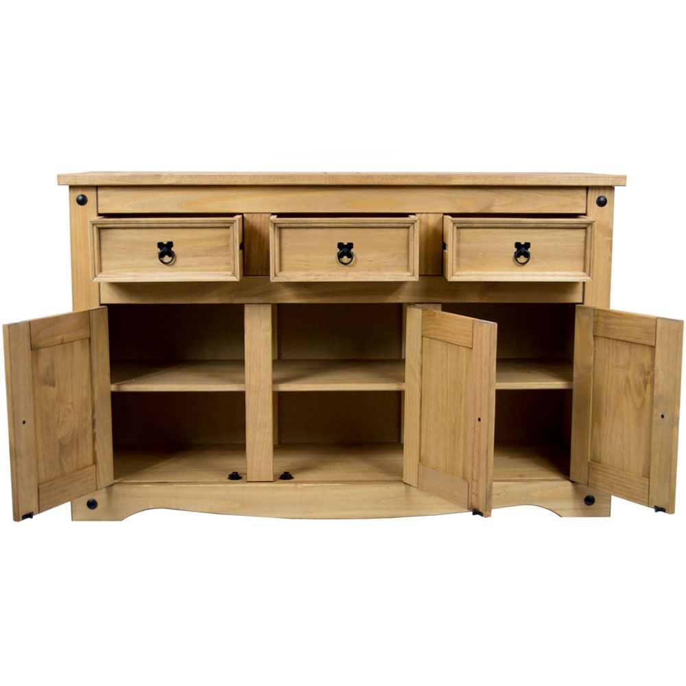 Corona-Solid-Pine-Mexican-Living-Room-Waxed-Furniture-Sideboard-Bookcase-Table thumbnail 125