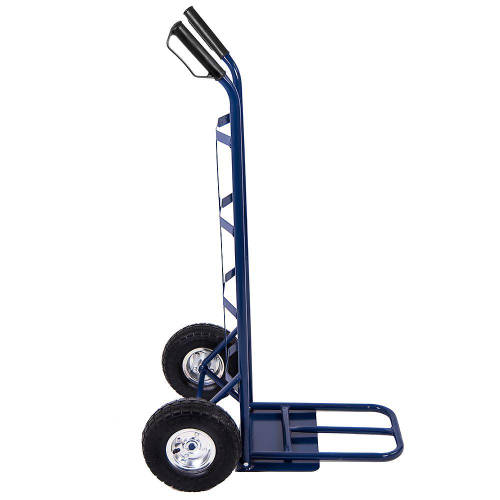 Bleu main sac camion standard grand heavy duty industrial sac main chariot panier 250kgs 40d25a