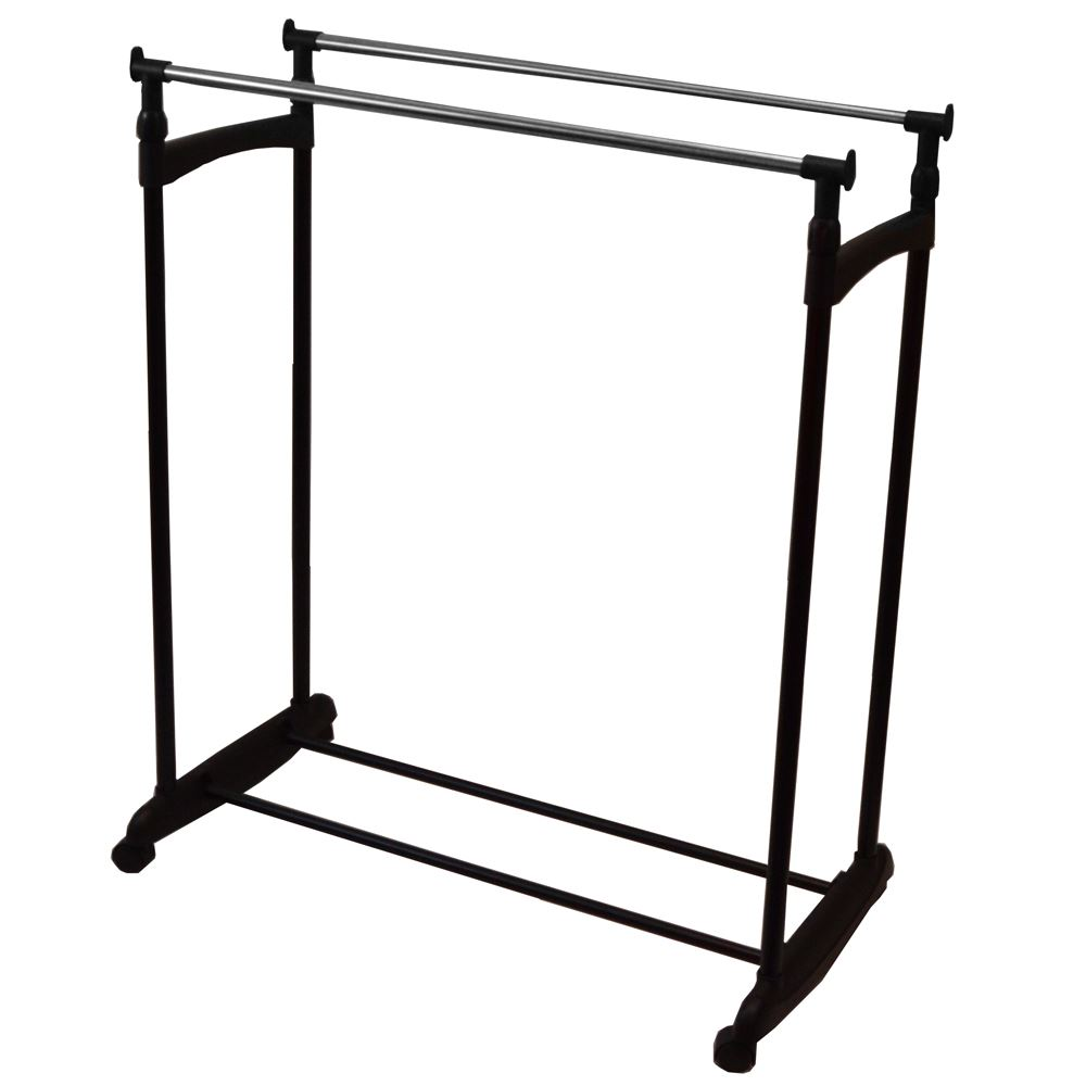 double garment rack clothes adjustable portable hanging
