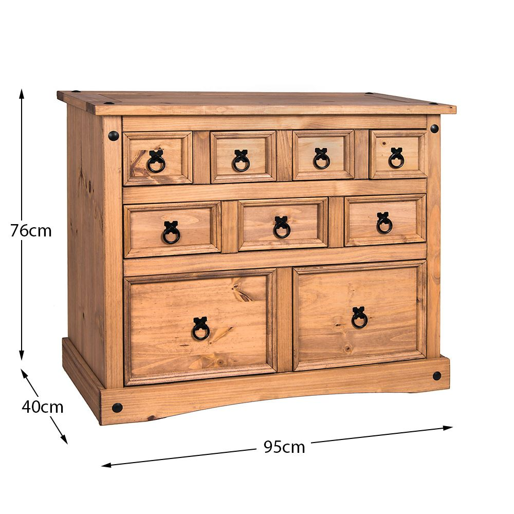 Corona-Solid-Pine-Mexican-Living-Room-Waxed-Furniture-Sideboard-Bookcase-Table thumbnail 228