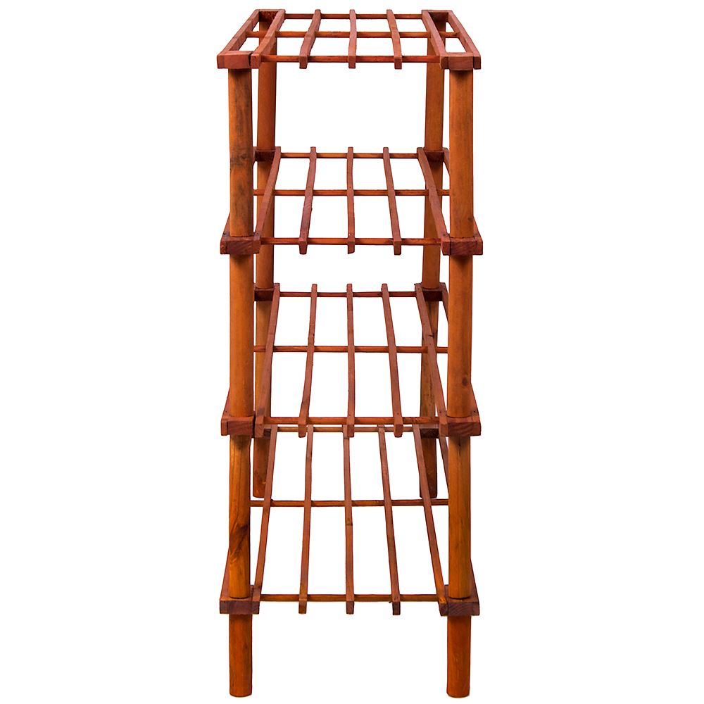 2-3-4-Tier-Shoe-Rack-Slated-Dark-Oak-Natural-Walnut-Wood-Footwear-Storage-Unit thumbnail 28