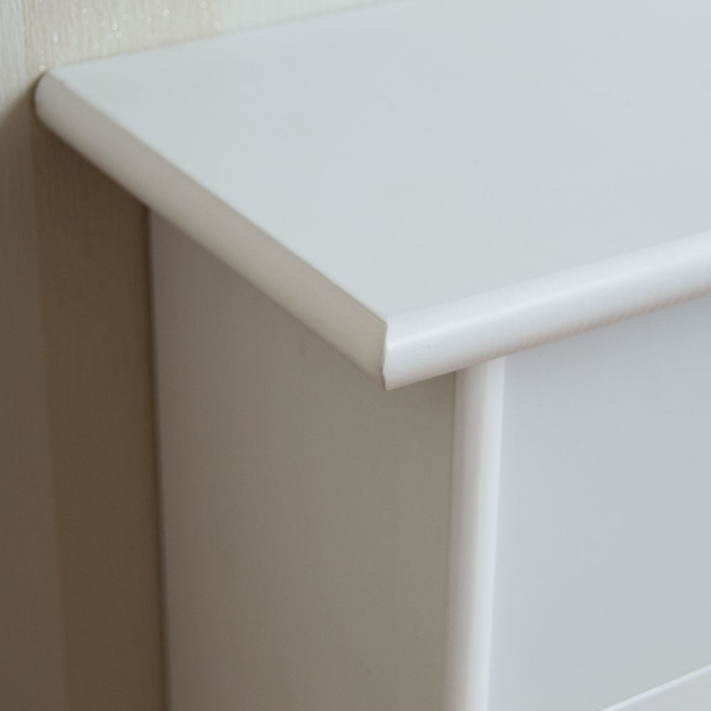 Oxford Radiator Cover Small Natural Mdf Traditional White